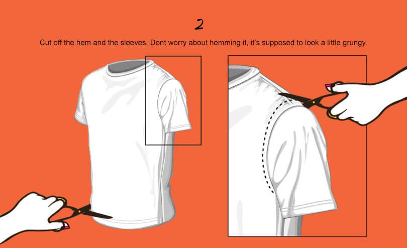 Diy T Cutting Techniques Shirt