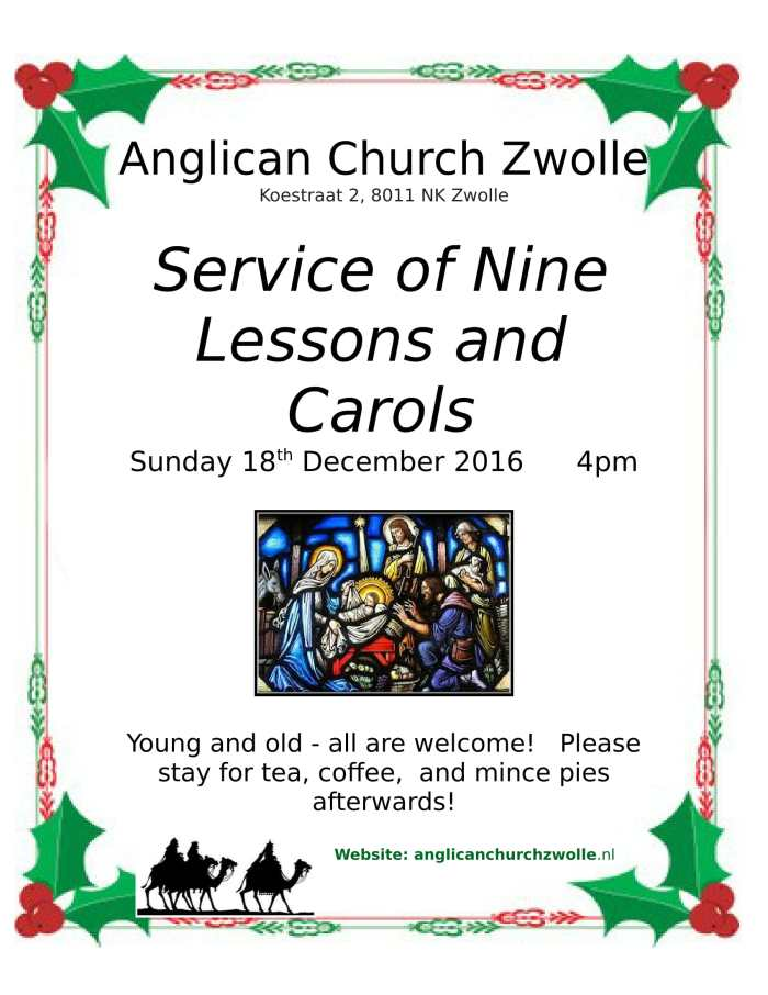 Annual Nine Lessons and Christmas Carols Service
