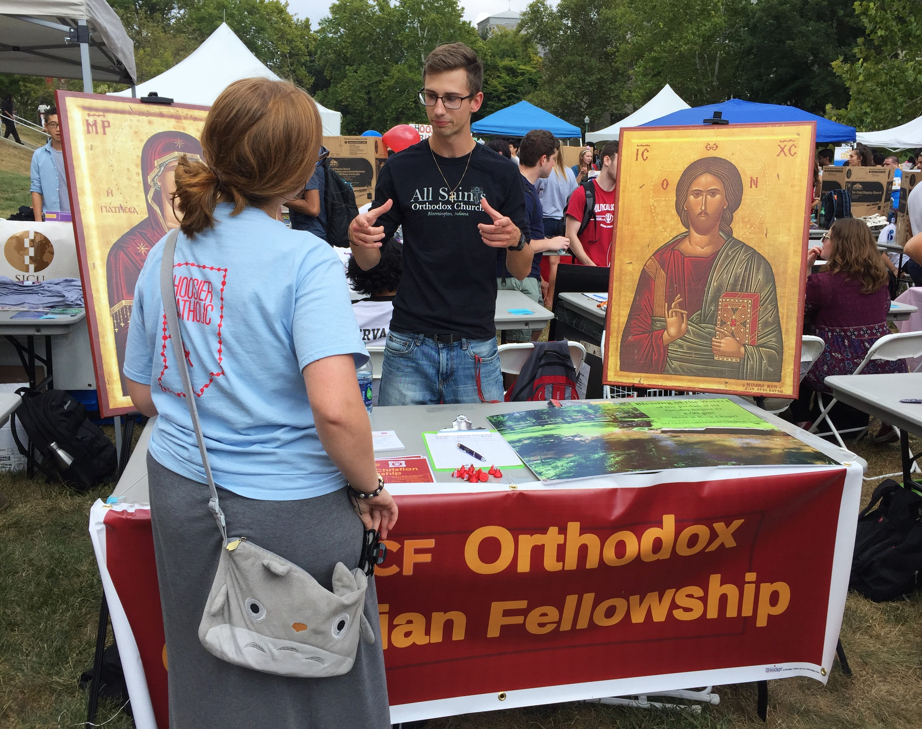 Jacob introduces OCF at the Student Involvement Fair