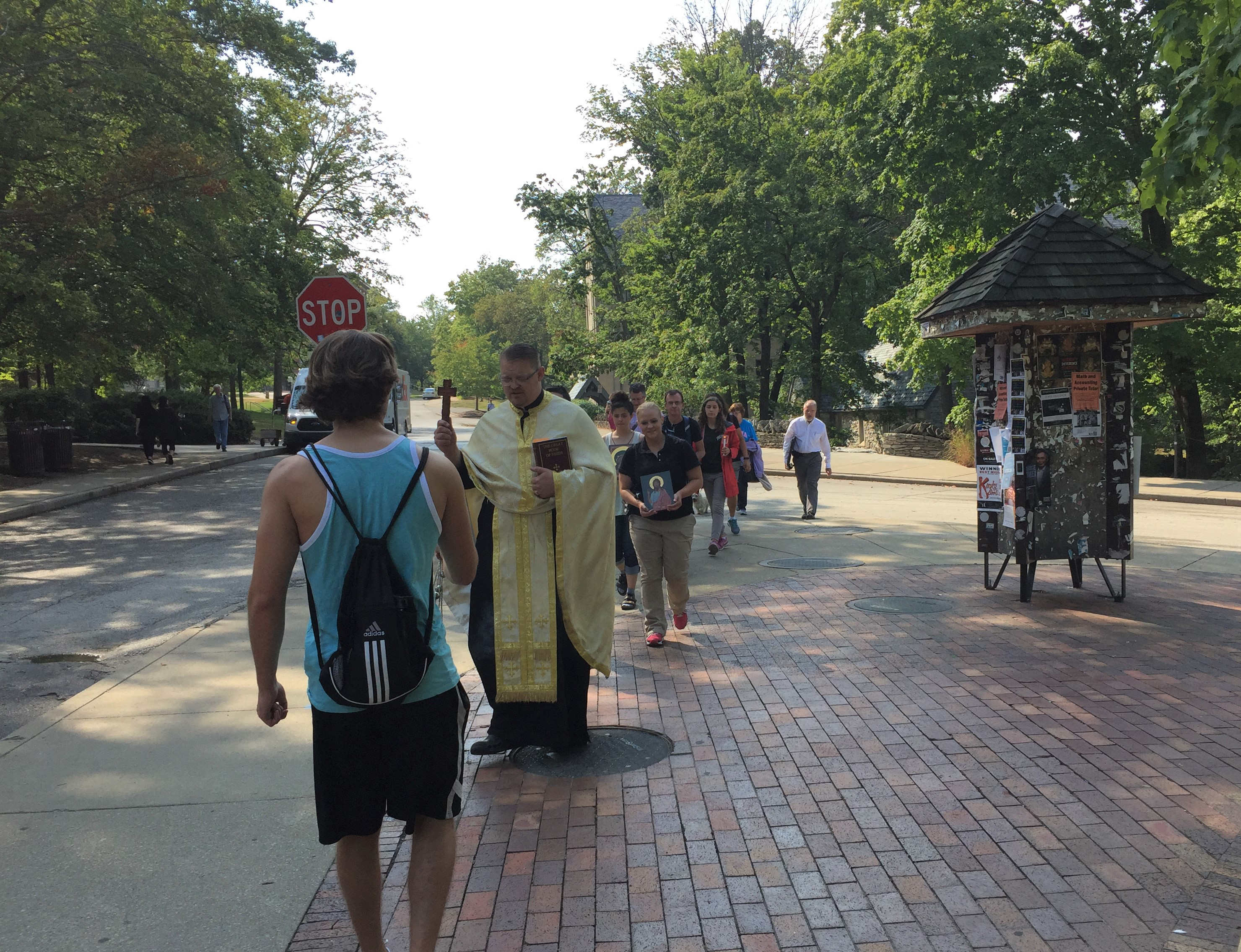 Procession to the Jordan River on IU Campus