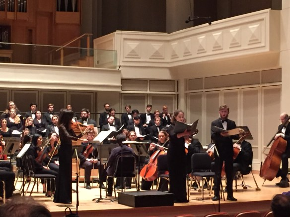 Matthias had a solo in a choir concert