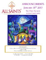 Announcements 12.31.2017 Christmas 1