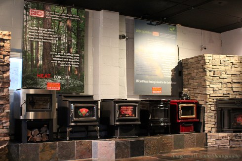 Chimney showroom with wood stoves