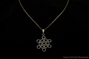 Chainmaille snowflake pendant