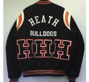 All-Star Embroidery Heath Varsity Jacket Back