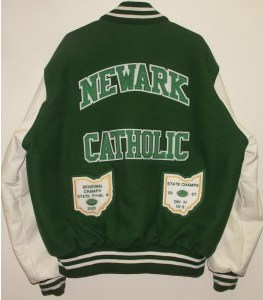 All-Star Embroidery Newark Catholic Varsity Jacket Back