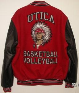 All-Star Embroidery Utica Varsity Jacket Back