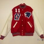 Licking Valley Boy Varsity Jacket Front