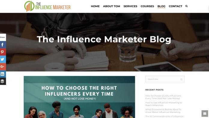 blog influencer marketing tom augenthaler