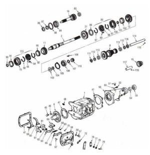 Saginaw 3 and 4 Speed Diagram  Chevrolet Transmission