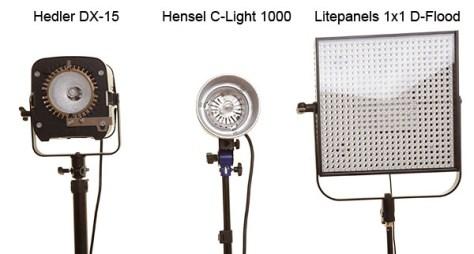 Vergleich Dauerlicht Hedler Hensel Litepanels