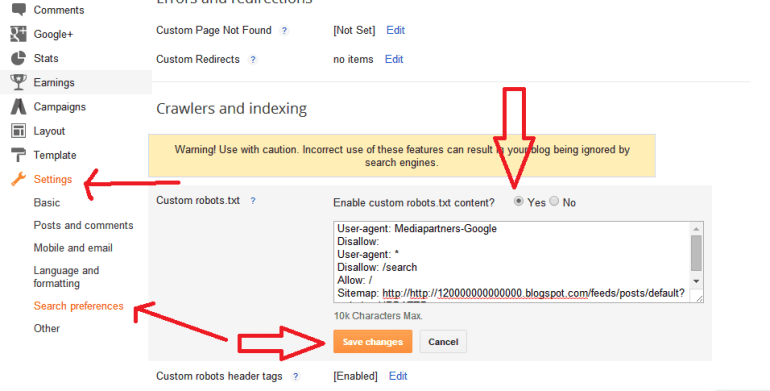How To Add Custom Robots.txt File in Blogger