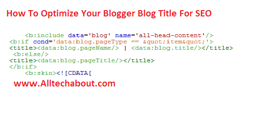 How to SEO Optimize Blogger Blog Post Titles