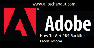 How To Get Free PR9 Backlink From Adobe