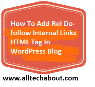 Add rel DoFollow Internal Links HTML Tag