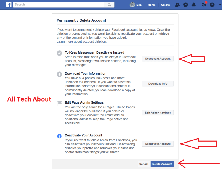 How To Close A Facebook Account