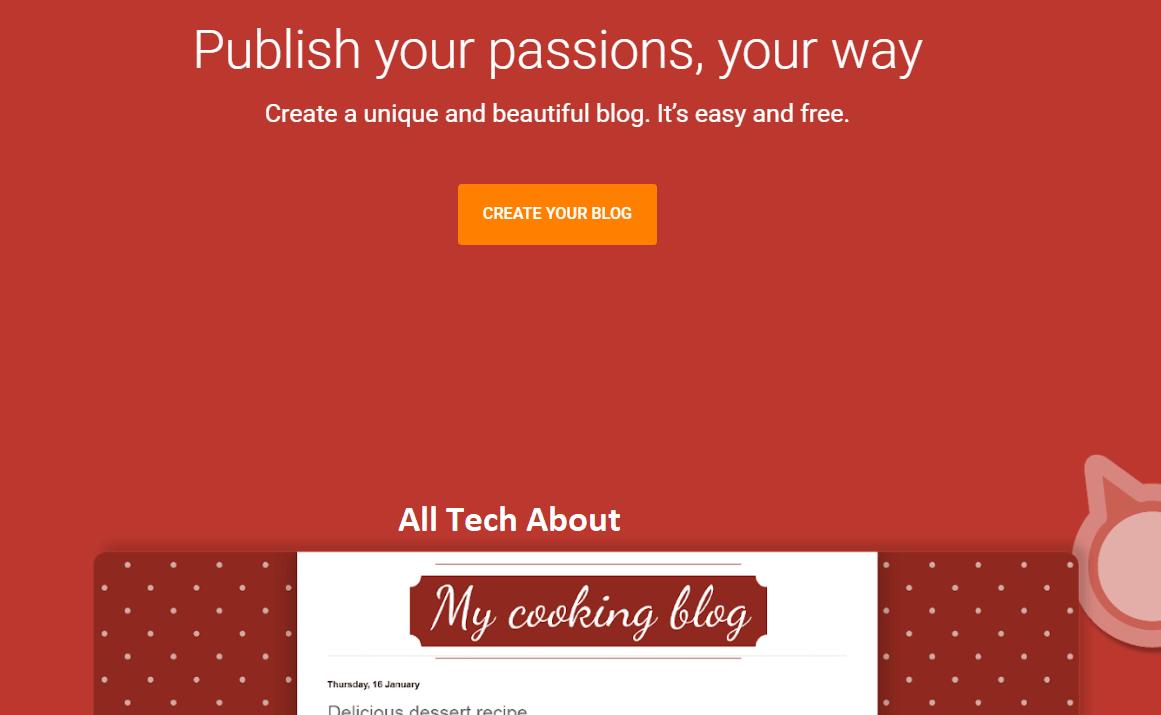 Start A Free Blog Using Blogger