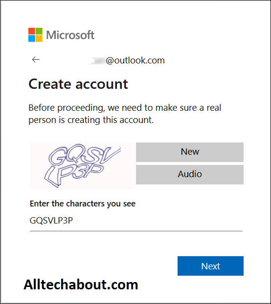 create an email account on Outlook