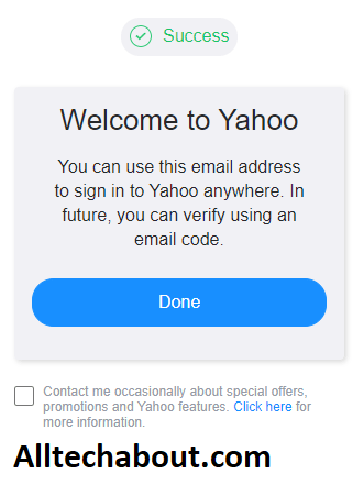 created a Yahoo account