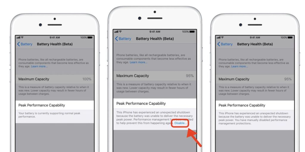 where to check iphone battery health