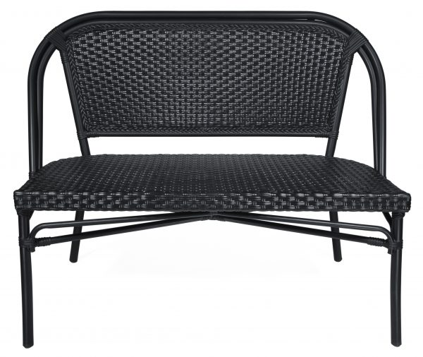 78627 Paris 2-sits soffa, svart