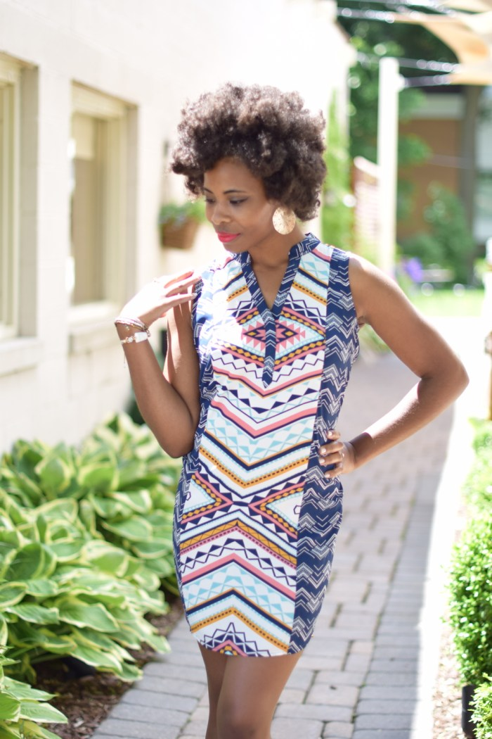 colorful-abstract-print-dress