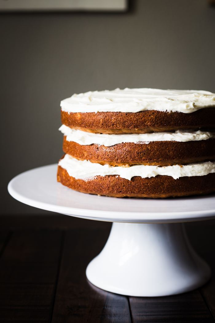 Similar in taste to carrot cake or spice cake, this Hummingbird Cake combines traditional and tropical flavors like banana and pineapple and is topped off with a classic buttercream frosting.