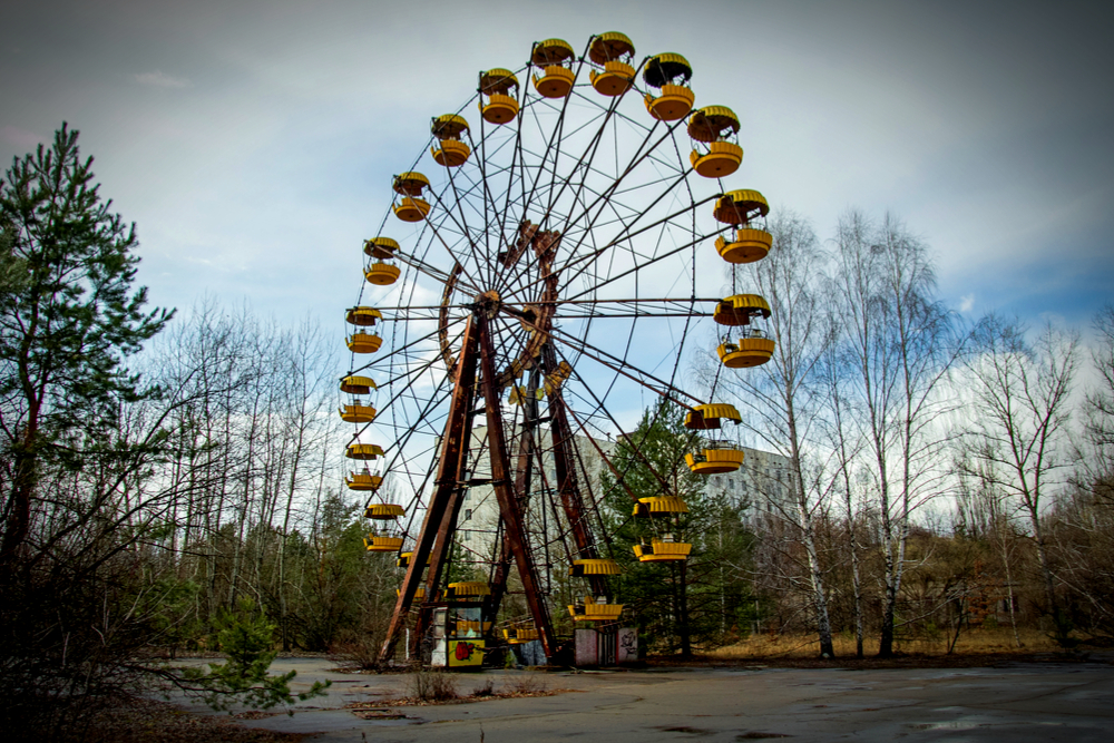 Image result for creepy theme park