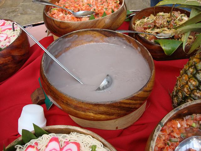 Authentic hawaiian food