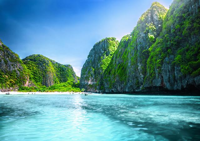 Maya Bay beach in thailand