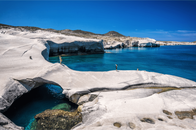 Sarakiniko Beach in greece