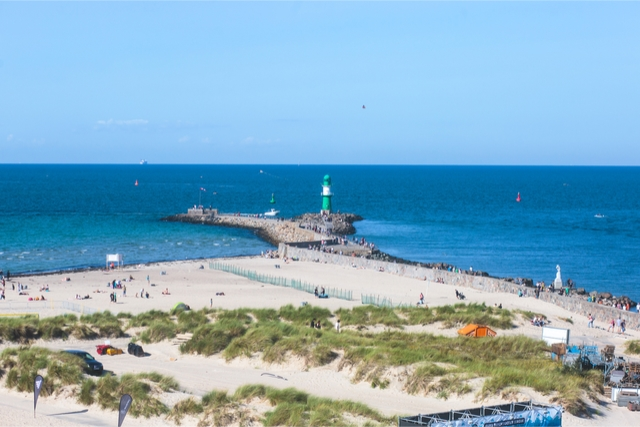 Best beaches in germany Warnemünde