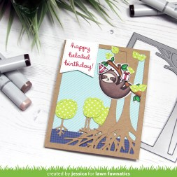 Happy Belated Birthday by Jessica Frost-Ballas for Lawn Fawnatics