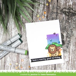 Have a Roaring Good Birthday by Jessica Frost-Ballas for Lawn Fawnatics