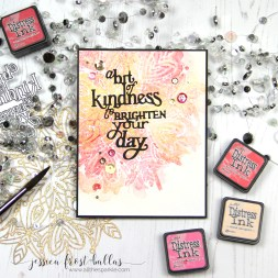 A Bit of Kindness to Brighten Your Day by Jessica Frost-Ballas for Simon Says Stamp