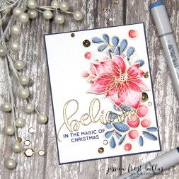 Believe in the Magic of Christmas by Jessica Frost-Ballas for Simon Says Stamp