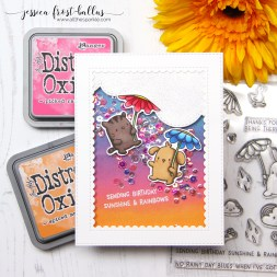 Sending Birthday Sunshine and Rainbows by Jessica Frost-Ballas for Simon Says Stamp