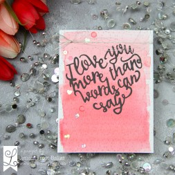 Jessica Love You More Than Words Quilted Stitched XOXO Die