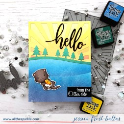 Hello from the Otter Side by Jessica Frost-Ballas for SugarPea Designs