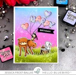 Happy Birthday by Jessica Frost-Ballas for Hello Bluebird