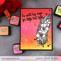 Earth has Music by Jessica Frost-Ballas for Simon Says Stamp