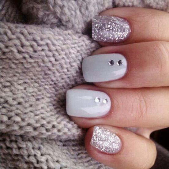 Winter nails - 37 ideas