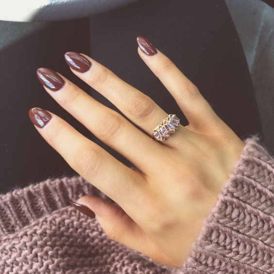 burgundy nail design winter nail art
