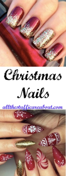 christmas nails winter nails nail art nail design