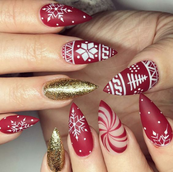 27 Christmas Nail Designs Festive Nail Art Ideas Allthestufficareabout