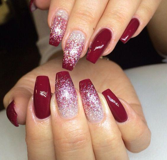 winter-nails-cute-designs-red-white-glitter
