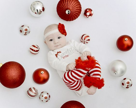 adorable and cute christmas postcards with your baby