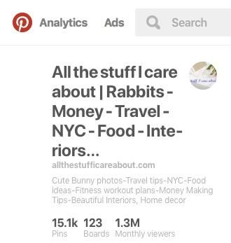 1mln Pinterest reach allthestufficareabout