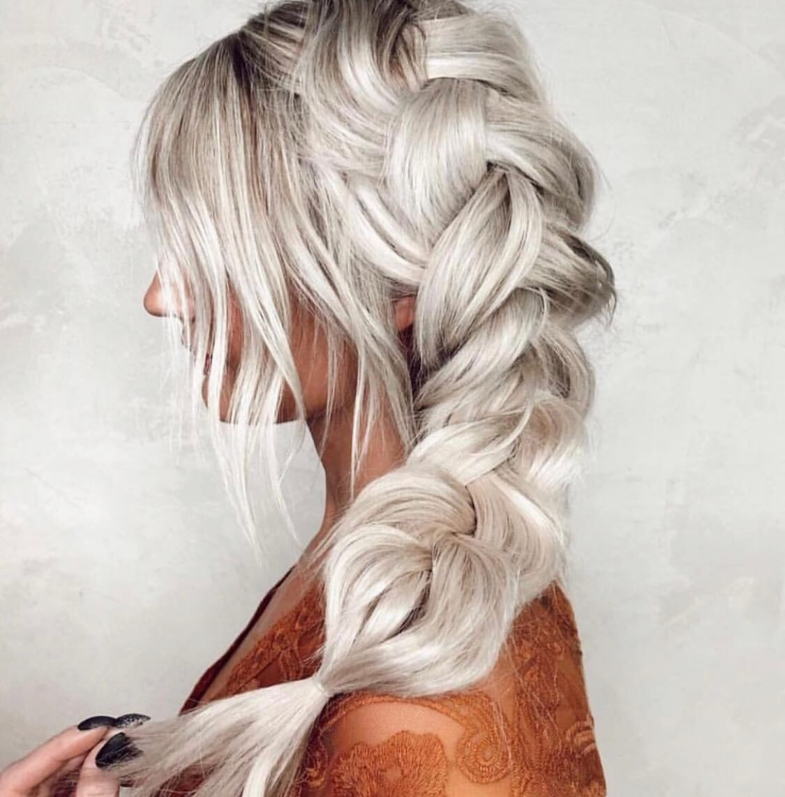 blonde hairstyle braid white grilling hair ideas Inso