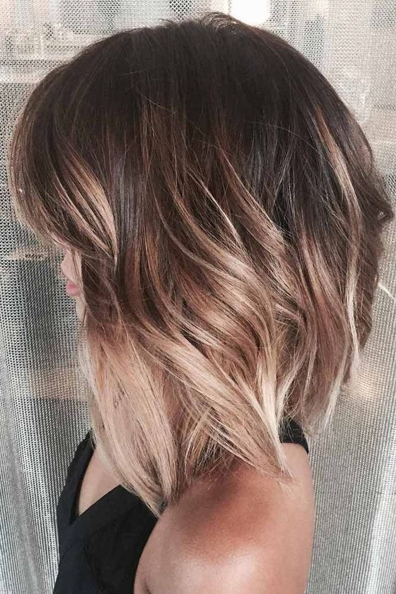 Ideas To Go Blonde Warm Short Ombre Hairstyles